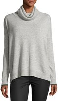Three Dots Raleigh Cashmere Cowl-Neck Sweater, Granite