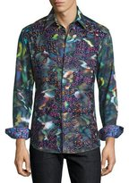 Robert Graham Limited Edition Embroidered Sport Shirt, Multi Colors