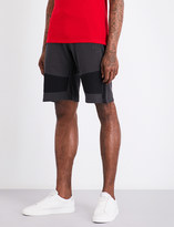 The Kooples Sport Contrasting panels cotton jogging shorts