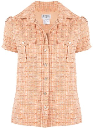 Chanel Pre Owned Sports Line tweed shirt