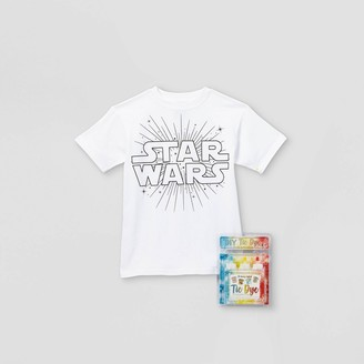 Star Wars Kids' Short Sleeve Graphic T-Shirt with Tie-Dye Kit -