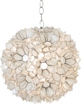 Worlds Away Shell Lotus Pendant