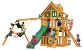 Gorilla Playsets Chateau Clubhouse Treehouse Swing Set