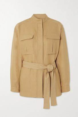 Loro Piana Belted Linen Jacket - Beige