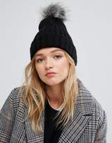 Pieces Pom Beanie In Black
