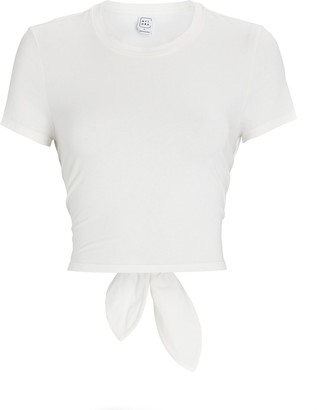 Nylora Kyla Cropped Open Back T-Shirt