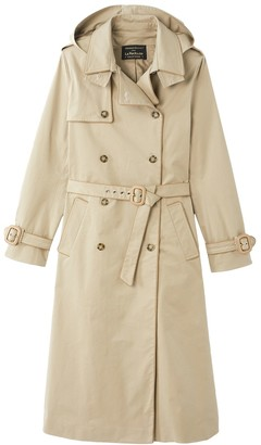 Vanessa Seward X La Redoute Collections Long Cotton Trench Coat with Detachable Hood