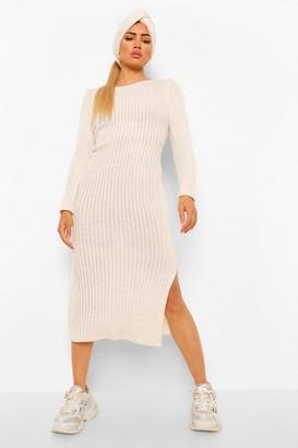boohoo Rib Knit Maxi Dress & Hair Accessory