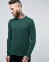 Asos Crew Neck Sweater in Blue Cotton
