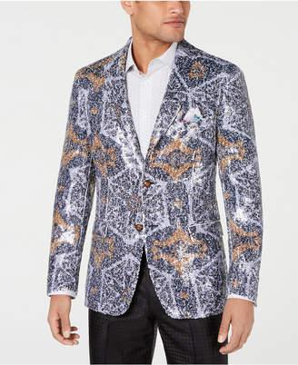 Tallia Men Slim-Fit Abstract Sequin Dinner Jacket