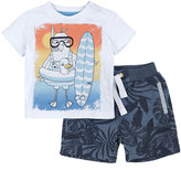 Petit Lem Island Surf Top & Shorts Set, Off White, Size 3-9M