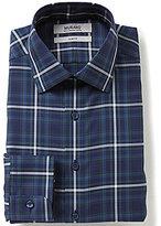 Murano Slim-Fit Spread Collar Plaid Dress Shirt