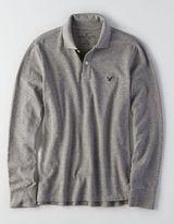 American Eagle AEO Long-Sleeve Pique Polo