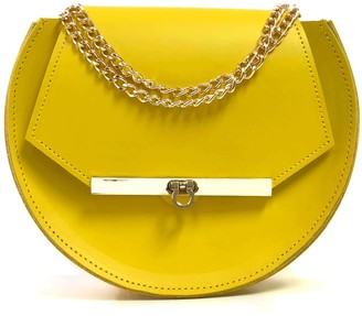 Angela Valentine Handbags Loel Mini Military Bee Crossbody Bag In Ceylon Yellow