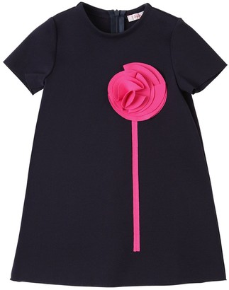 Il Gufo ABSTRACT FLOWER MILANO JERSEY DRESS