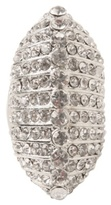 Silver Rhinestone Diamond Shield Ring