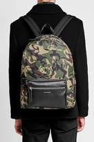 Alexander McQueen Printed Backpack with Leather