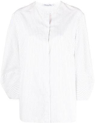 Christian Dior Pre-Owned Puff-Sleeves Striped Shirt