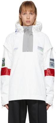 ADER error White Oblique Anorak Jacket