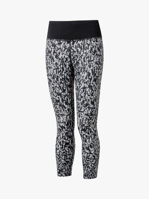 Ronhill Life Cropped Running Leggings, Mono Mushroom