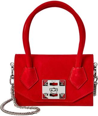 Salar Milano Kio Soft Suede Shoulder Bag