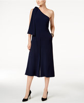 Julia Jordan Cropped One-Shoulder Jumpsuit