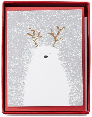 Papyrus Polar Bear Blizzard Boxed Holiday Cards Set Of 20