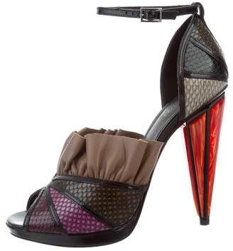 Rodarte Leather Ruffle-Accented Sandals