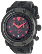 Glam Rock Women's GR61113 Miami Beach Chronograph Black Dial Black Silicone Watch
