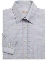 Brioni Cotton Long Sleeve Checkered Shirt
