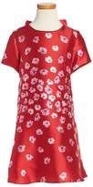 Oscar de la Renta Girl's Poppies Mikado Dress