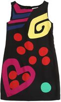 Moschino Abstract Printed Crepe Shift Dress