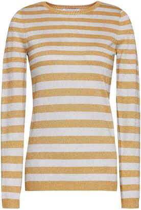 Bella Freud Metallic Striped Stretch-knit Sweater