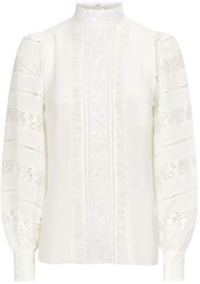 Andrew Gn Lace-Panelled Blouse