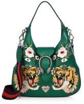 Gucci Dionysus Small Embroidered Leather Hobo Bag