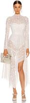 Jonathan Simkhai Scarf Embroidered Hankerchief Bustier Dress in White | FWRD