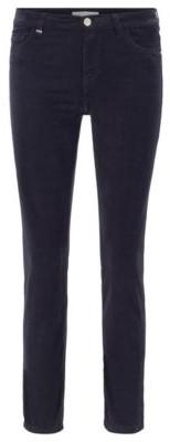 HUGO BOSS Slim-fit jeans in Italian stretch-cotton velvet