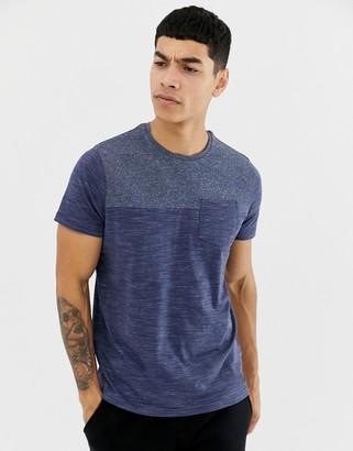 Brave Soul Space Dye Pocket T-Shirt-Cream