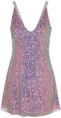 Free People Gold Rush Lilac Sequin Mini Dress