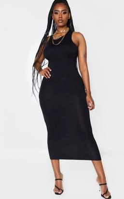 PrettyLittleThing Shape Black Jersey Sleeveless Midaxi Dress