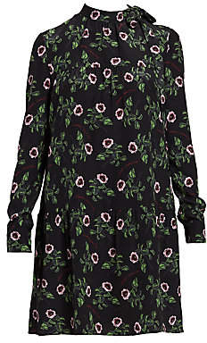 Valentino Women's Fang Roses Silk Crepe de Chine Dress