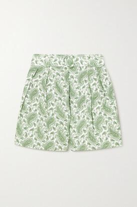 Faithfull The Brand + Net Sustain Ondine Belted Paisley-print Linen Shorts
