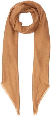 Loewe Anagram Checkboard Wool Silk Cashmere Blend Scarf
