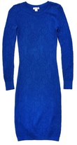 Reiss Bobbina Blue Pointelle Knit Dress