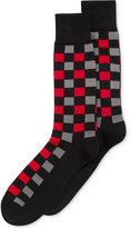 Alfani Spectrum Men's Socks, Block Plaid Crew Single Pack