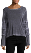 Lucca Couture Becca Tiered Sleeve Top