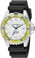 Momentum Women's Quartz Stainless Steel and Rubber Diving Watch, Color:Black (Model: 1M-DN11LL1B)