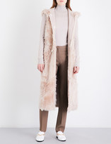 Drome Hooded reversible shearling and suede gilet