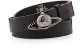 Vivienne Westwood Orb Gunmetal Buckle Belt 82010003 Black