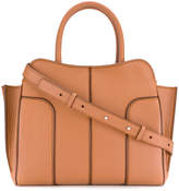 Tod's embossed logo textured tote bag